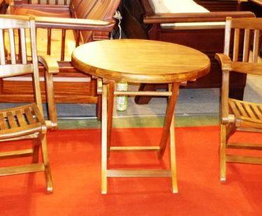 柚木折合桌椅