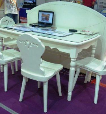 3鄉村SC030+SC030A船型餐桌303 餐椅SC032@66