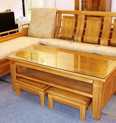 31103 風格L型榆木板椅1320