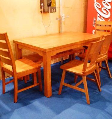 33021T085K餐桌165 C085K餐椅@30 C086K橫條餐椅@36