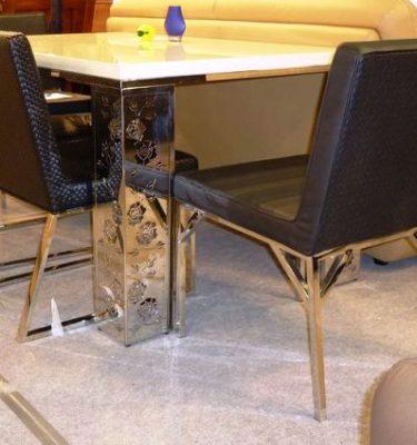 34053 玫瑰餐桌420 編織餐椅@63 巴黎餐椅@66