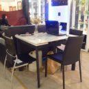 34053-1222爵士白拉桌225 0902餐椅@40.5 34061-811餐椅@30