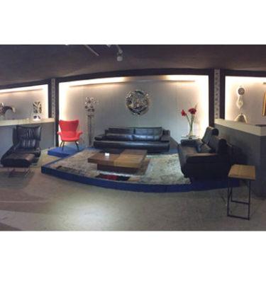 65型全牛沙發休閒椅+腳椅